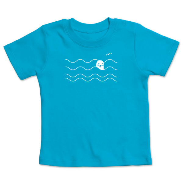 ・Robbie the seal・Waves Seagull Kids-Shirt shortsleeve